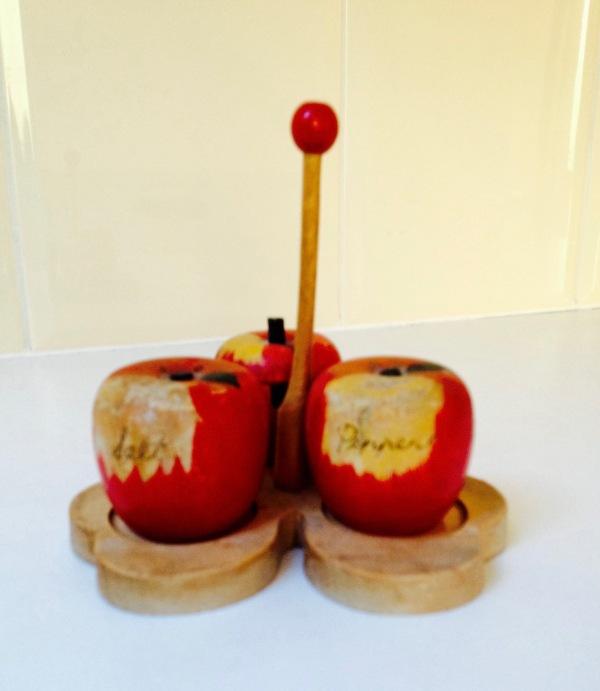 Verliefd op appeltjes, gekleurde gedachten