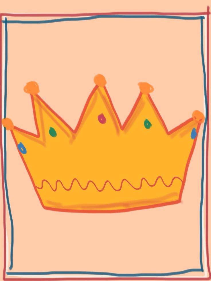 Een koninklijk cadeau, gekleurde gedachten, Karien Damen