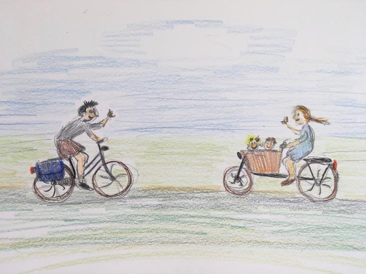 Een fietsband, gekleurde gedachten, Karien Damen