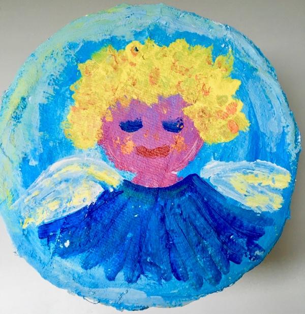 Een elfje over een engel, Gekleurde Gedachten, Karien Damen