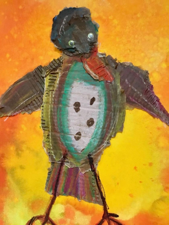 De Troostvogel, gekleurde gedachten, Karien Damen
